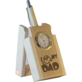 I love my Dad Pen with Stand and Clock.