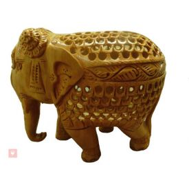 Elephant in wooden colour