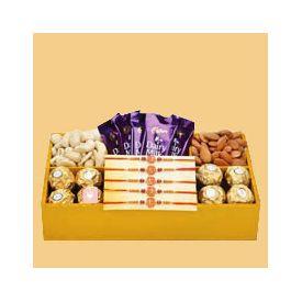 Rakhi With Tasty Combo Gifts
