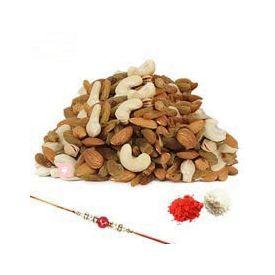 1kg Mixed Dry Fruits With Rakhi