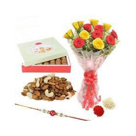 1kg Dry Fruits and Rakhi Hamper