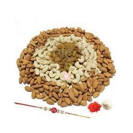 Rakhi with 1 Kg Dry Fruits