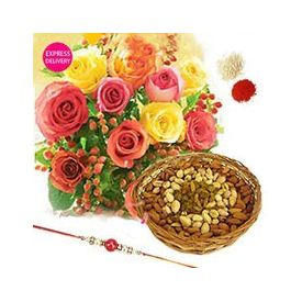 Mixed Roses N Rakhi