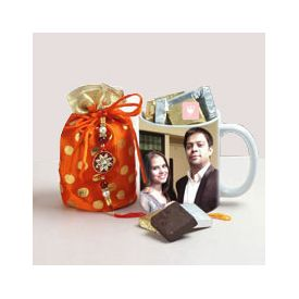 Personalized Mug N Rakhi Treats