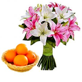 Lilies With Orange