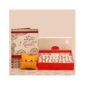 Sweets, Rakhi and Greeting card