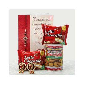 Rakhi, Greeting card, Choco pie