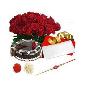 Bunch of 20 red roses, Cake