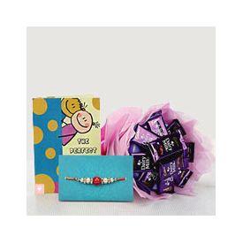 Chocolates and a Rakhi Greeting Card