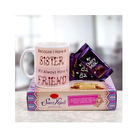 Chocolates, Coffee Mug and Soan Papdi