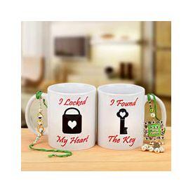 Rakhi with Coffee Mugs