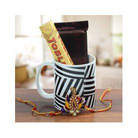 Rakhi and designer coffee mug