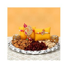 Rakhi With Dry Fruits Thali