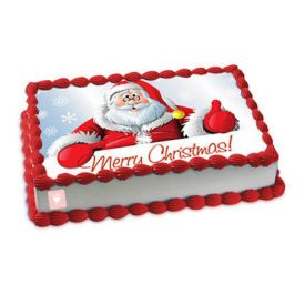 Black Forest Photo Cake for Christmas