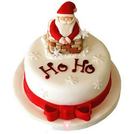 Ho-Ho Christmas cake with a Cute Santa