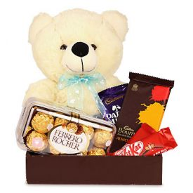 Christmas Chocolate and Teddy Gift hamper