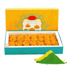 Moti Choor Laddu With Gulal
