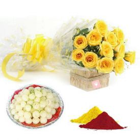 Yellow Rose, Rasgulla With Gulal