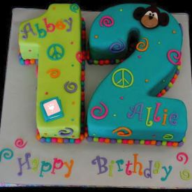 Birthday Number Shape Cake