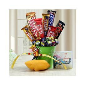 Mug, Rakhi with Chocolates,