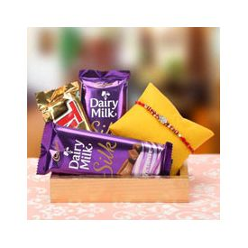 Rakhi with Cadbury Dairy Milk