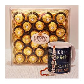 Big Ferrero Rocher box with a nice printed mug