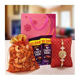 Mixed Dryfruits in a potli bag yummy Dairymilk chocolates