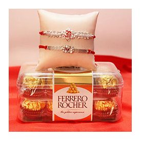 Ferrero Rocher of 200 gm ,2 Appealing Rakhis