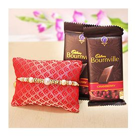 2 Bourn Ville of 40 gm ,Pearl Rakhi