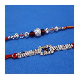 Rakhis is crafted with Silver
