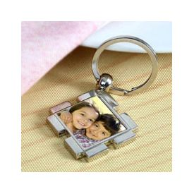 Personalized Key chain Square 1.5x1.5 inches