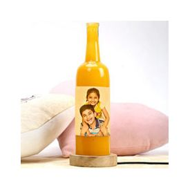Personalized Yellow Bottle Lamp