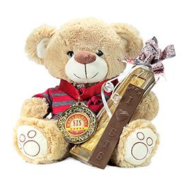 Cute Teddy Bear With Chocolate