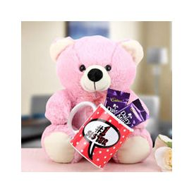 Pink Teddy 9 inches height