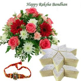 Mix flowers, kaju katli 250 gm,rakhi