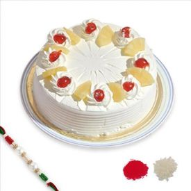 Pine Apple Cake With Rakhi