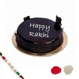 Choco Cream Cake With Rakhi
