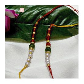 Pearly and beaded Rakhis