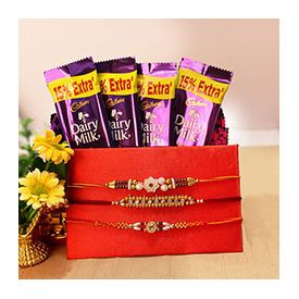 Dairy Milk with 3 Rakhi set