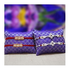 Golden Stone Studded Rakhis