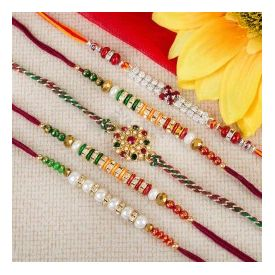 Set of 5 amazing Rakhi