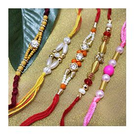 Five different types of rakhi