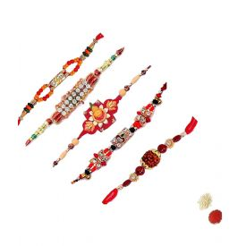 Set of 5 designer Rakhi