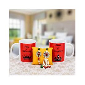 Lumba Rakhi with coffee mug