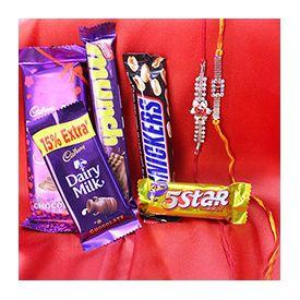 Favorite chocolate among the hamper