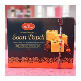 Soan Papdi of 250gm with rakhi