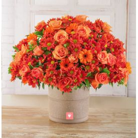Orange Sprays,25 gerberas and 25 roses