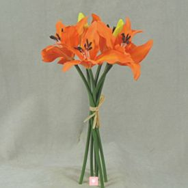 Bunch of 6 orange lilies