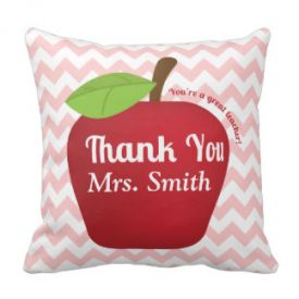Soft cushion printed with apple image