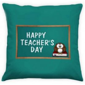 Teachers Day Green Cushion